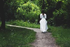 back, bride,